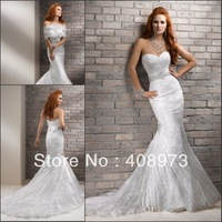 2013 New Arrival Sweethart Mermaid Cheap Lace Wedding Dresses 2013