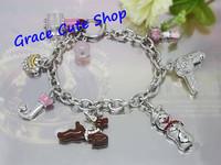 Free Shipping Charm Bracelet Snowman Pendant Bracelet Brand Jewelry 2 Colors Top Quality Package (Dust bag,Gift Box) #JCB131