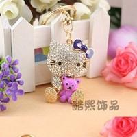 2013 Fashion Creative Car Pendant cute Cats Keychain Bag Buckle Key Chain Wholesale Send his Girlfriend YS136