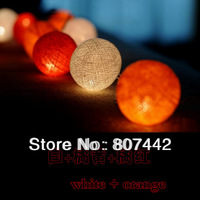 20 Balls/ Set Super Promotion Coffee Night Light Multiclolor Light/ String Cotton Lamp Holidays Decorations Free Shipping