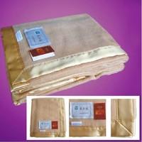 Mooren tailorable premium silk mulberry blanket silk blanket super soft spring and autumn blanket plain camel