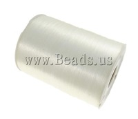 Free shipping!!!Crystal Thread,New Arrival, elastic, white, 0.5mm, Length:Approx 700 m, Sold By PC