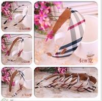 100% guarantee!Free shipping wholesale 2013 new British style plaid cover headband hair bands for kid headband girls headwear