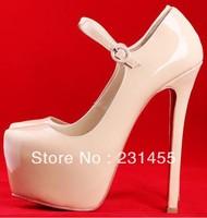 red bottom shoes platform genuine leather designer Women's brand sexy Stiletto buckle high heels lady party pump 160mm 140mm