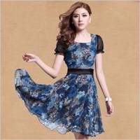 2013 fleur ol chiffon plus size chiffon one-piece dress women's