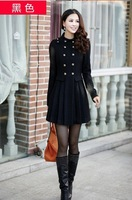 2013 NEW winter, double-breasted elegant fashion sweet cute long ladies winter coat