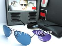 Free shipping New arrival 1:1 fashion high quality vintage unisex big box Sunglasses RB3460
