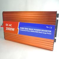 Pure sine wave inverter 72v 220v 2000w household battery emergency converter power po