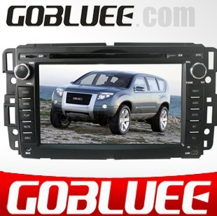 High quality touch screen car gps for GMC with GPS navigation bluetooth phone FM radio IPOD steer wheel etc