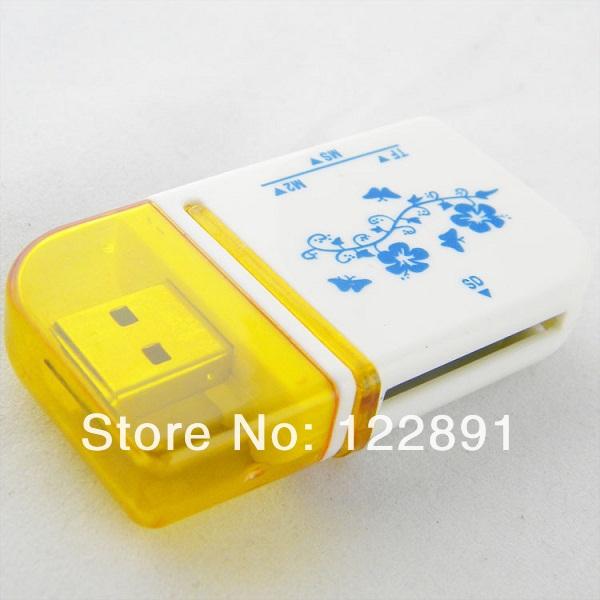 4 in 1 USB Card Adapter MS SD TF M2 Micro Memory Card Reader USB 2.0 Adapter Wholesale! 50pcs/lot Free shipping(China (Mainland))