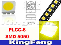 Free shipping(1000 pieces/lot)  Yellow PLCC-6 5050 SMD/SMT 3-CHIPS  Ultra Bright LED Light