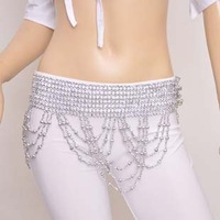 Free shipping belly dance waist chain beads big wave of Latin hip girdle towel tribal belt fringed