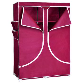 Free shipping Cloth wardrobe steel pipe folding simple wardrobe hanging closet Large