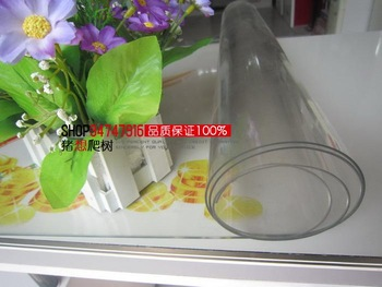 Transparent dining table cloth soft glass mat table cloth print tablecloth pvc scrub crystal plate waterproof oil 70cm