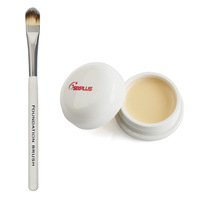 SixPlus Professional Make Up Concealer Cream Palette 9# Yellow + New Cream Gel Liquid Foundation Makeup Single Brush 7#
