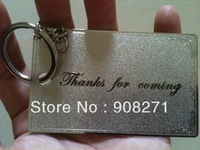 metal business card, birthday card with keychain, die cut metal card, logo card. free shiping by DHL/FEDEX