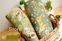 10PC 20*30cm Garden animals Hand Painting Dyeing Natural Cotton Linen Canvas Handmade DIY Patchwork Fabric Mix Order
