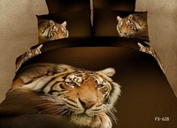 New Beautiful 4PC 100% Cotton Comforter Duvet Doona Cover Sets FULL / QUEEN / KING SIZE bedding set 4pcs thinking tiger