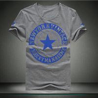 Free shipping xxxl 4xl 5xl 6xl 7xl 8xl men's clothing men's plus size clothing american five-pointed star short-sleeve T-shirt