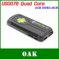 Free Shipping - UG007B Quad Core Android 4.2 TV Box/Mini PC RK3188 2GB DDR3+8GB Flash Nand HDMI/WiFi/Bluetooth DLNA Airplay