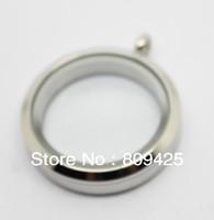 wholesale glass locket magnetic glass locket 30mm 316L Stainless Steel silver locket designs
