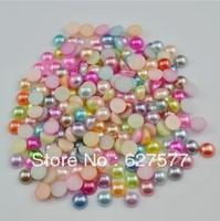Wholesale 1000pcs 4mm Mix Colors Pearl Flat Back DIY Deco Case iPhone / Phone / Scrapbook