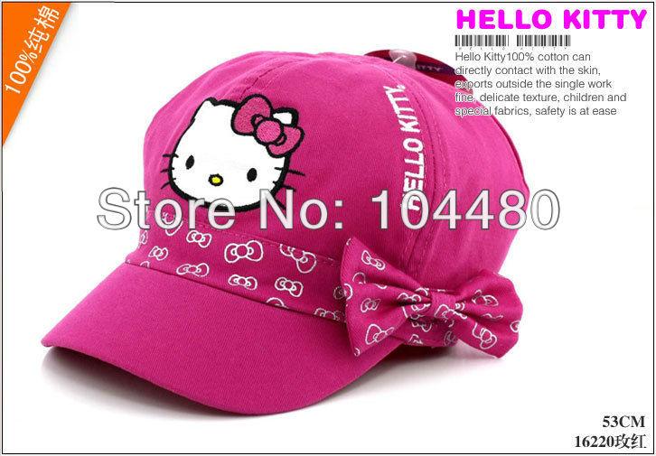 hello kitty children fashion girls flex fit baseball hat,flexfit kids snapback cap,child toddler summer sun hat,christmas gift(China (Mainland))