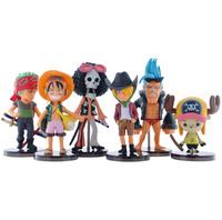 6 pcs One Piece Luffy anime figures pvc toys