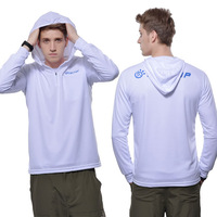 Outdoor 2013 spring and summer Men sunscreen breathable fishing clothes uvioresistant with a hood fast drying clothing