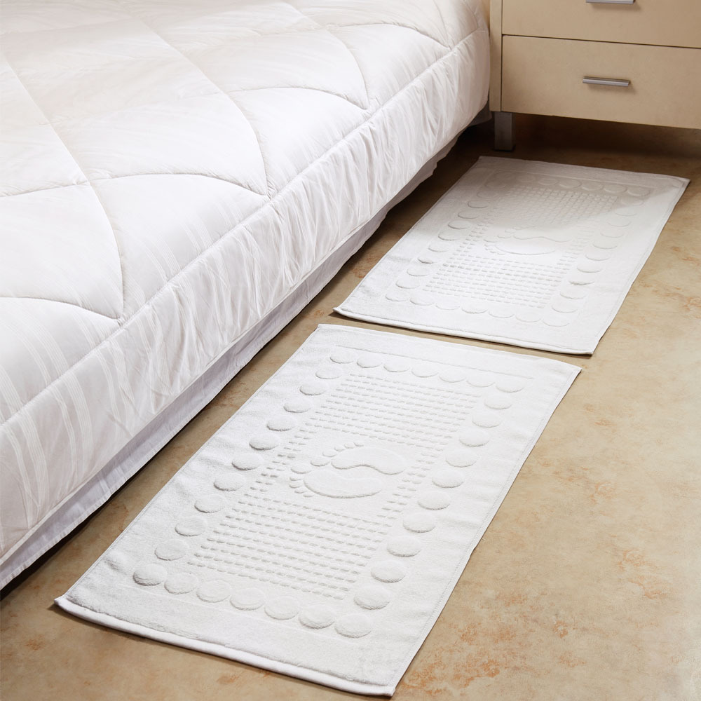 100% cotton in towel thickening in towel bath mats slip-resistant pad doormat(China (Mainland))