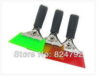 Wholesale  Car scraper for stick the vinyl films, Metal handle Tools for car windows films, 13cmx2cm squeegee