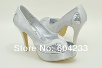 MZ558, free shipping wholesale new style BIG SIZE custom made high heel platform wedding shoes for white women