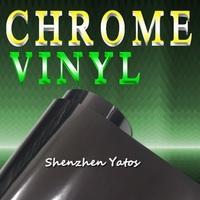 Black Air Drain Chrome Mirror Car Body Color Changing Foil Sheet