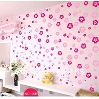 Free Shipping Flower Wall Stickers Sofa TV Wall Sickers Self-adhesive stickers