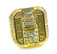 Free Shipping !18k gold plated size 12 Men's replica  2004  Tampa bay Lightning Stanley Cup Championship rings as gift.