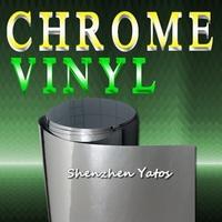 Silver Chrome Vinyl Mirror Car Film Sheet Air Bubble 1.52*30M/Roll