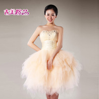 Jigme 2013 tube top design short formal dress l7020 bride dress