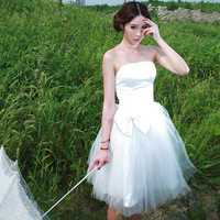 2013 tube top full yarn the bride wedding dress bridesmaid dress yjyjhsdl11043