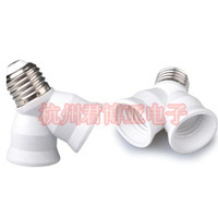 10PCS/Lot, E27 General screw-mount lamp base One of two conversion lamp fitting double led lighting accessories Free shipping