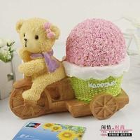 Free shipping Handmade Little Bear Cute Money Boxes, Saving Box ,Piggy bank for gift,2pcs/lot . D100