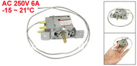 AC 250V 6A -15 to 21 Celsius Degree 3 Pins Freezer Refrigerator Thermostat