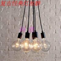SALE 6 Head Vintage classic bulb E27 lamp Fitting pendant light line diy lighting lamps led pendant lighting Base Free shipping
