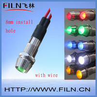 FL1-024 RED color 12v signal lamp M8 LED type standard packing