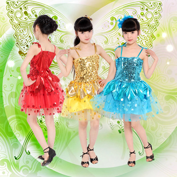 Child costume female child butterfly performance wear tulle dress infant formal dress flower girl skirt  Free shipping