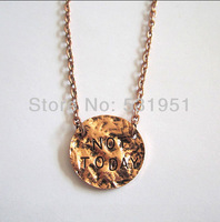 Free Shipping!!Game of  The Thrones Necklace Not Today Pendant Necklace Christmas Gift