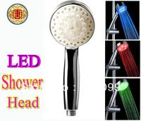 Romantic  Bathroom LED Shower Temperature Sensor,RGB Rain Shower Head,Romantic feel.Type A15