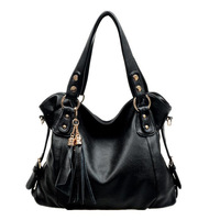 Free Shipping Hot Sale 2013 New Fashion Large Capacity Tassel PU Leather Shoulder Bag Women's Messenger Bag