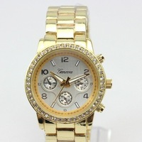 Korean Fashion Ladies Dress Watch US Stylish Women's Brand Clock With Diamnd Gold Silver Hot Geneva Quartz Watches Hours Free