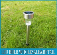 10pc/ lot stainless Solar LED lawn garden street lamp light, free shipping!