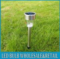 10pc/ lot stainless Solar LED lawn garden street lamp light, free shipping!